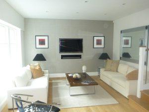 Brands Built - Living Room Recessed TV Under floor heating