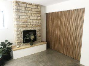 Brands Built Building sliding door sandstone polished concrete
